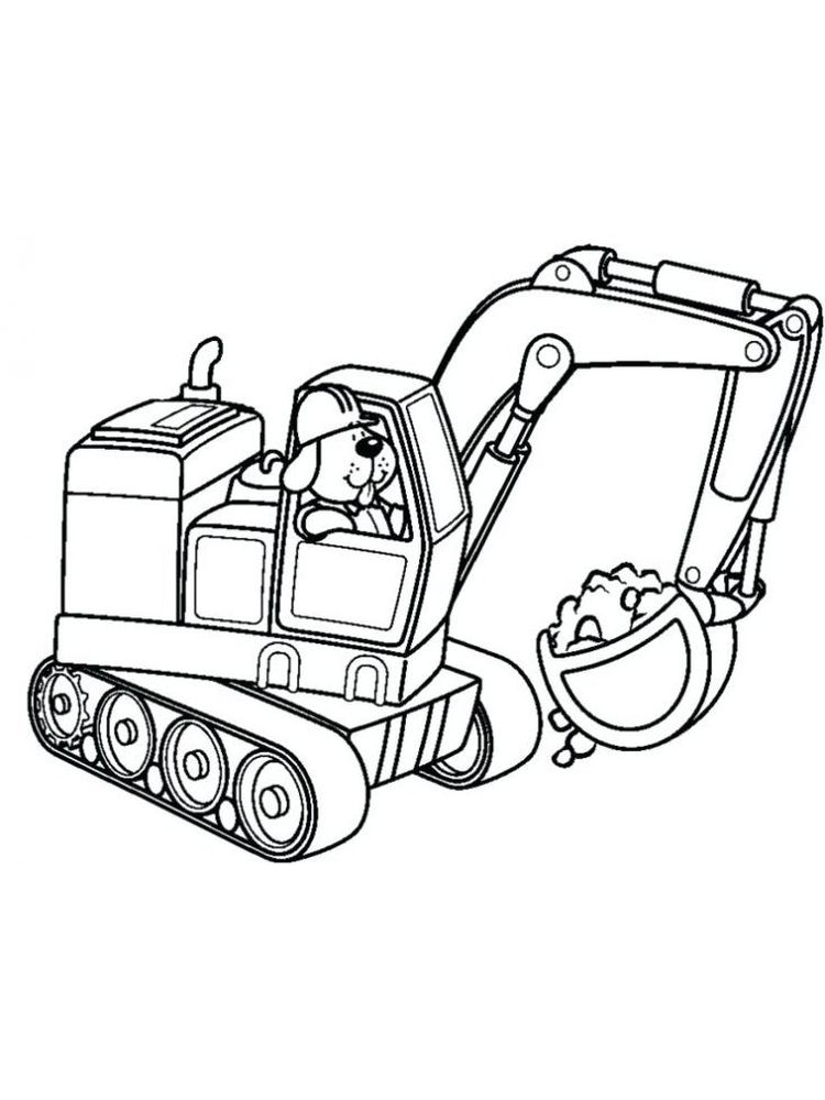 printable excavator coloring pages