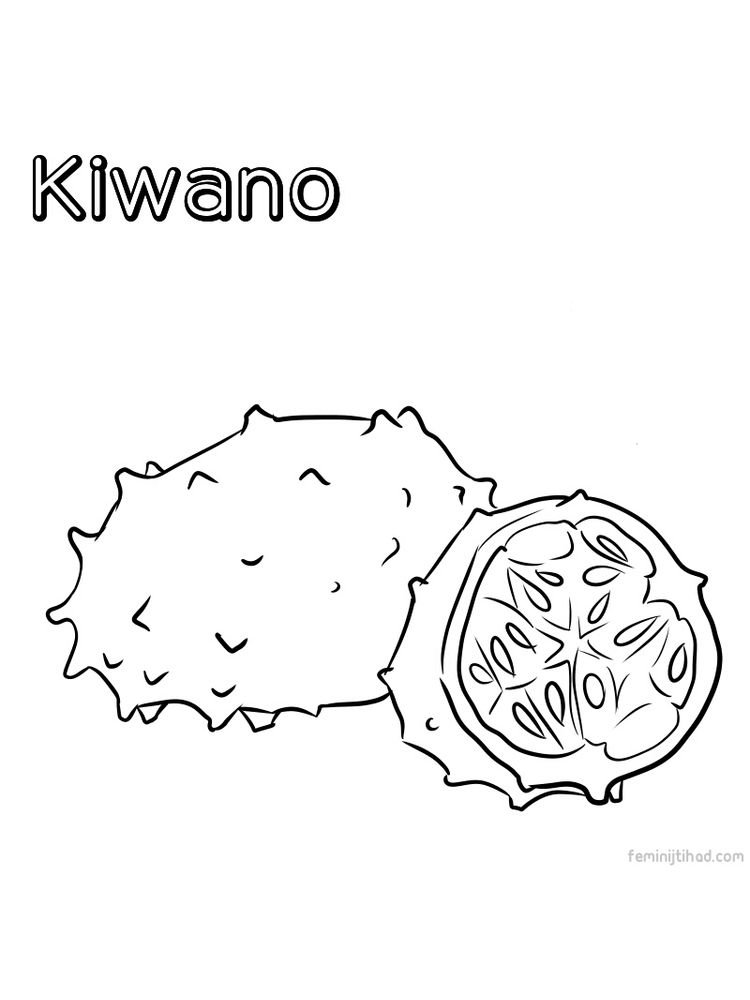 printable kiwano coloring pictures download