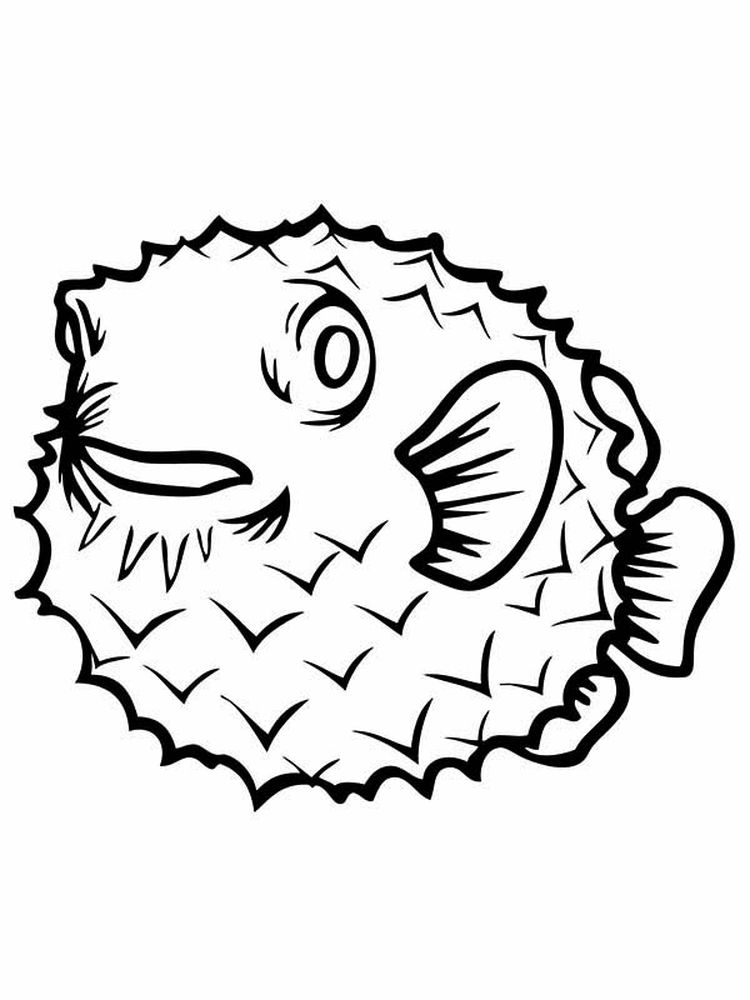 printable puffer fish coloring pages image