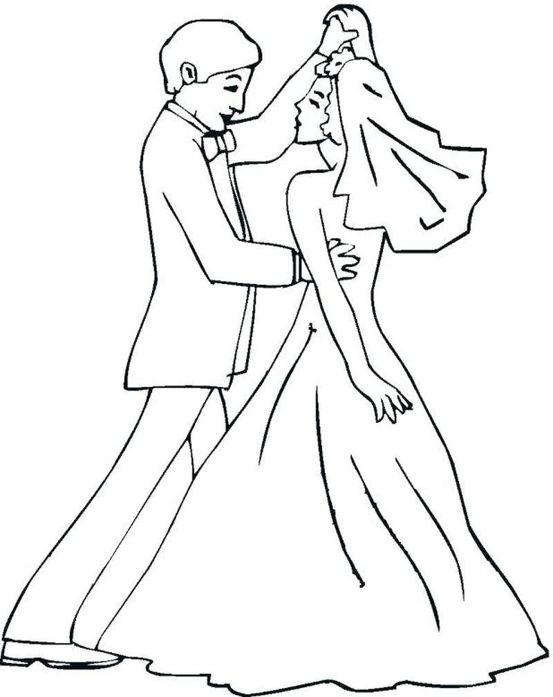 q and u wedding coloring pages Printable