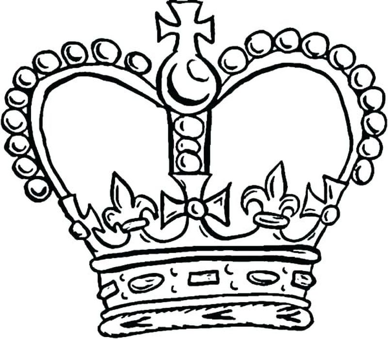 queen crown coloring pages print