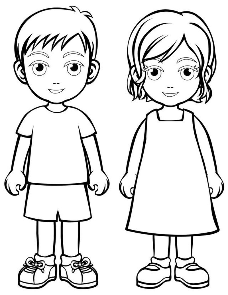 realistic people coloring pages Printable