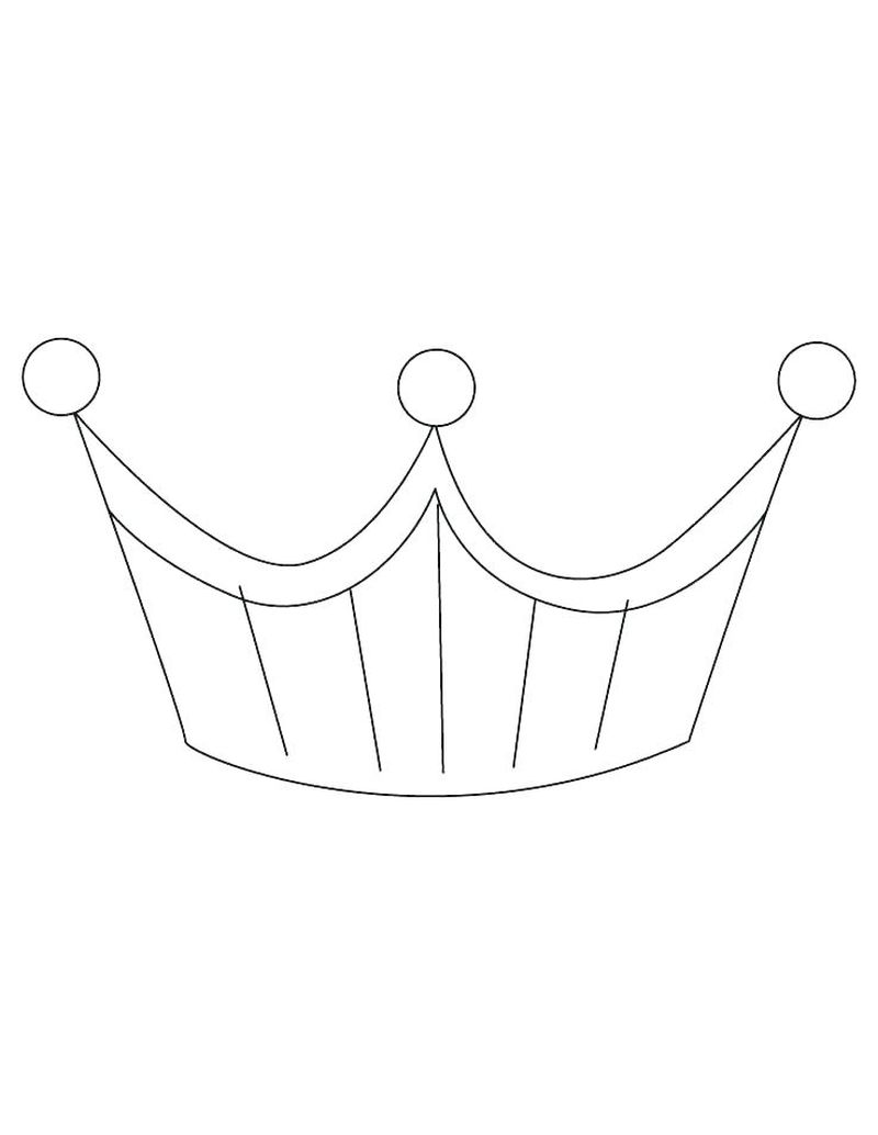royal crown coloring pages print