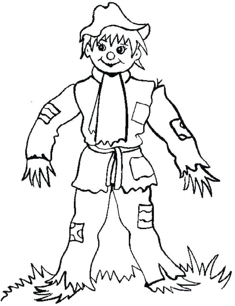 scarecrow coloring page pdf