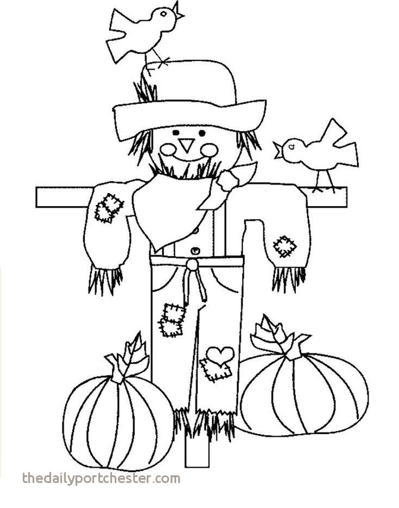 scarecrow coloring pages colored