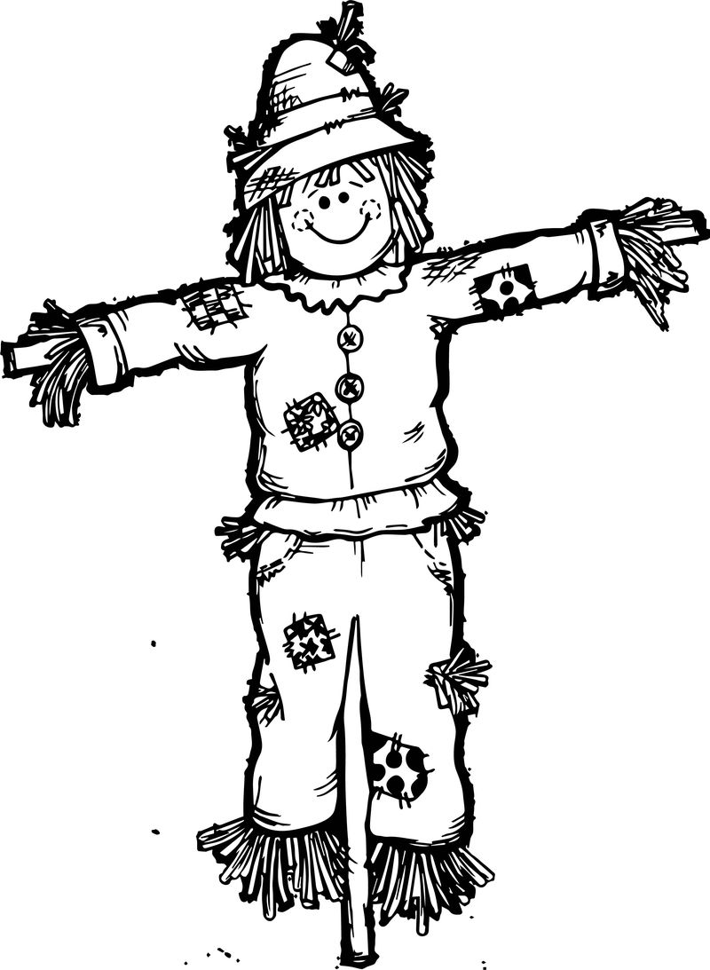 scarecrow coloring pages free print