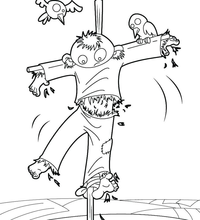scarecrow coloring pages to print print