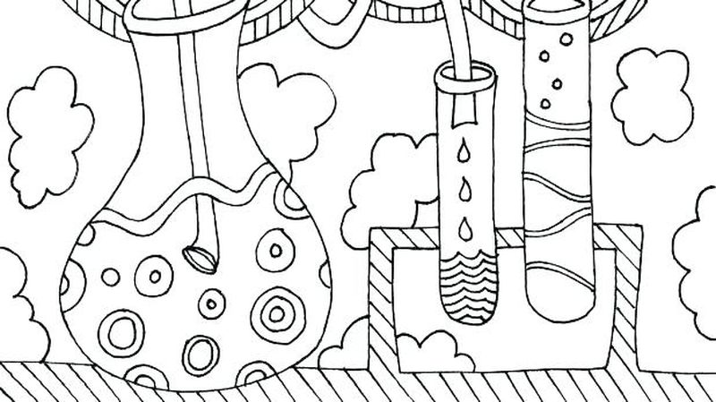 science coloring pages chibi