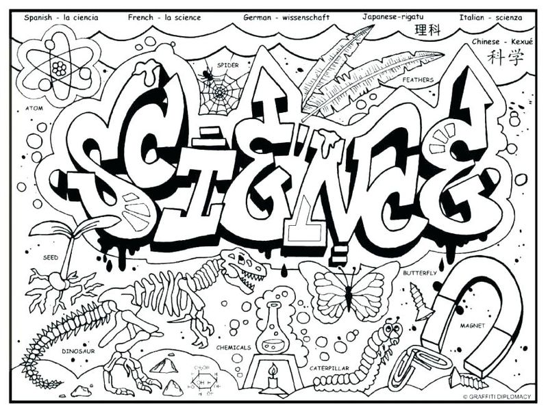 science coloring pages free