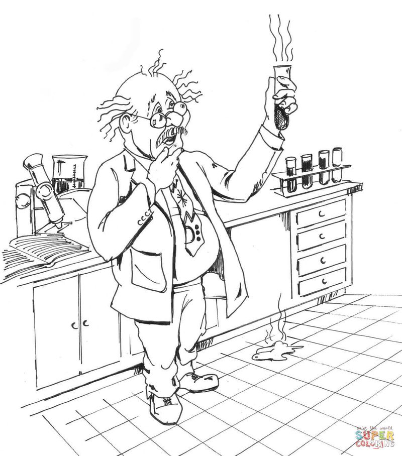 science lab equipment coloring pagesPrintable