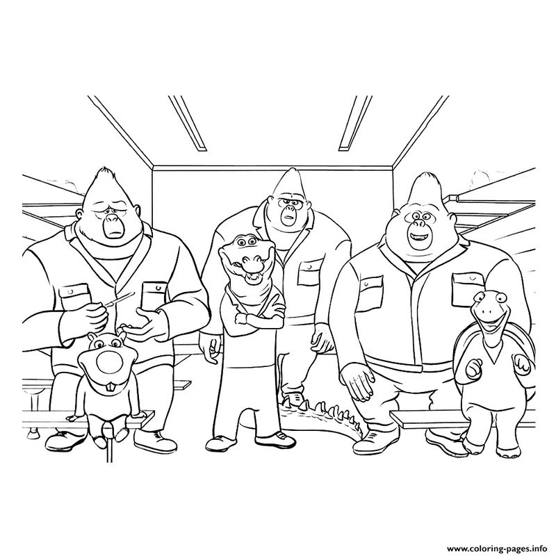 sing character coloring pages