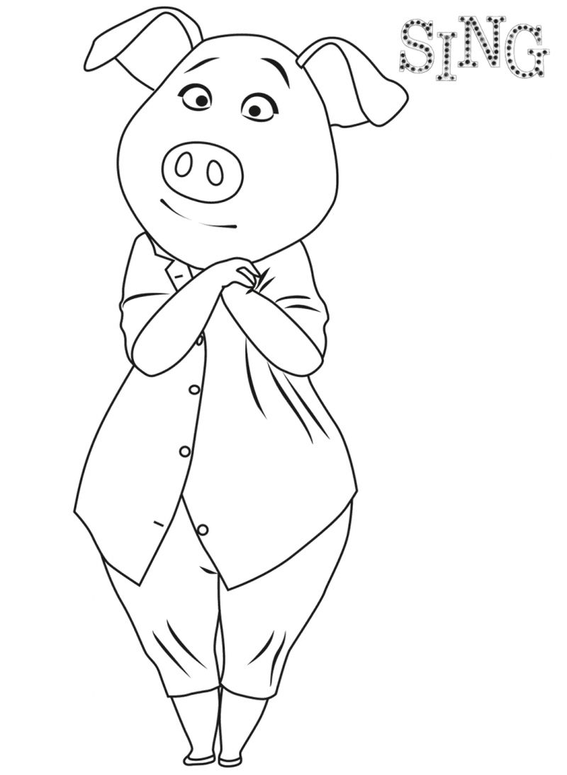 sing coloring pages for kids