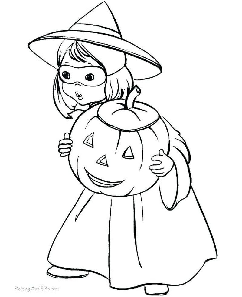 skull witch coloring pages