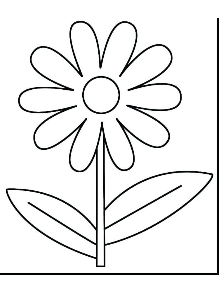 spring flower coloring page best