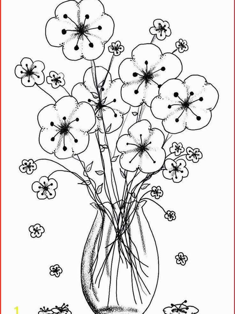 spring flower coloring page printable