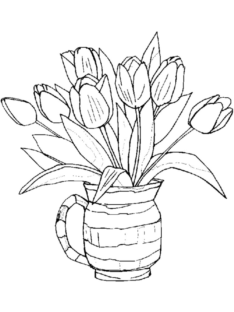 spring flowers coloring pages for preschoolers print