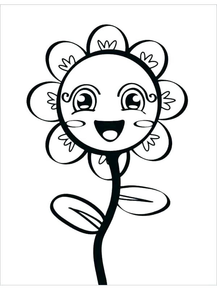 spring flowers coloring pages preschool