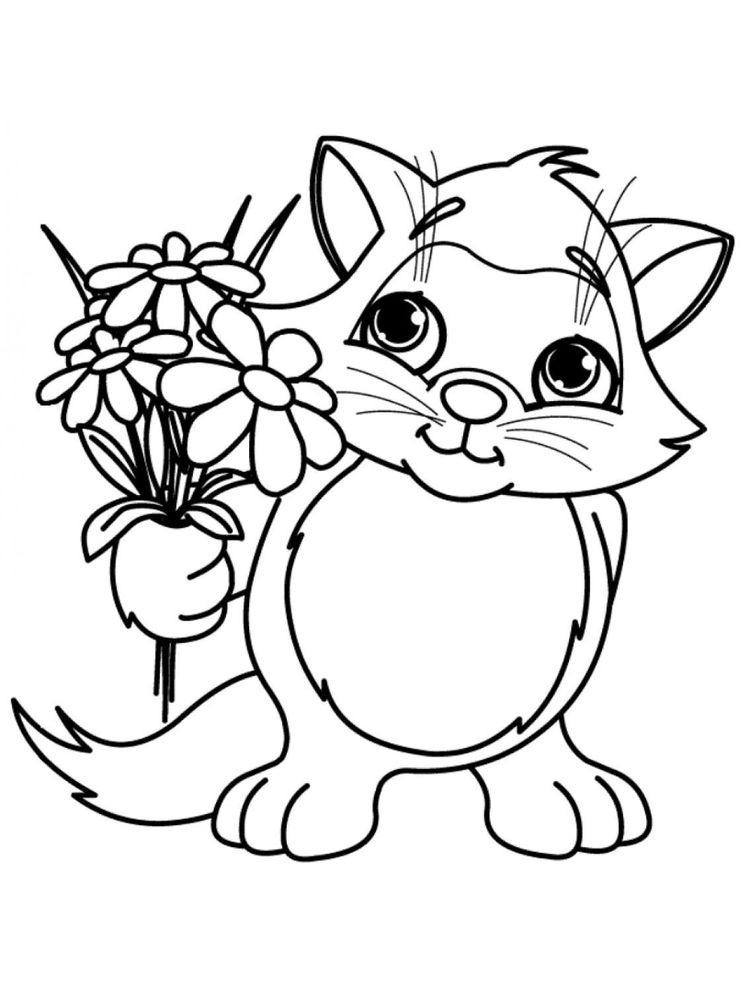 spring flowers coloring pages to print
