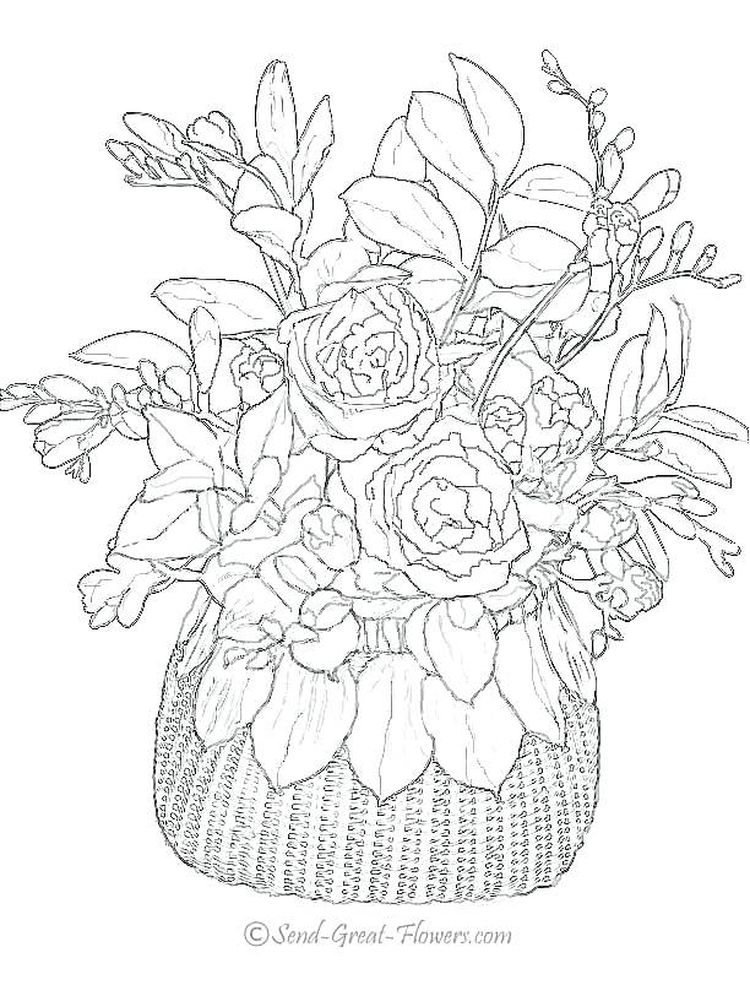 spring flowers coloring sheets printable