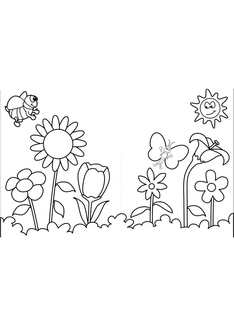 springtime flowers coloring pages