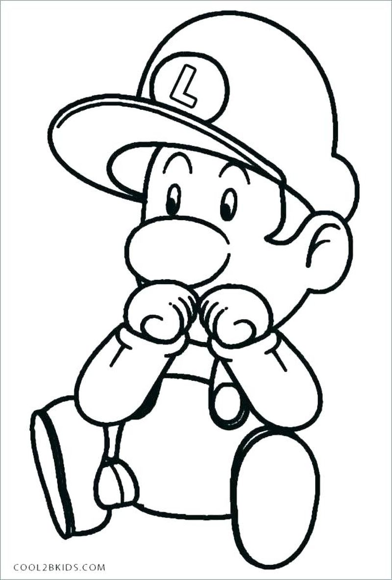 super mario 2 coloring pages