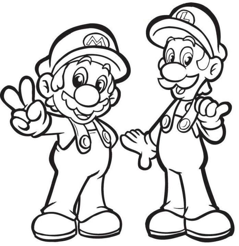 super mario PRINTABLE coloring pages