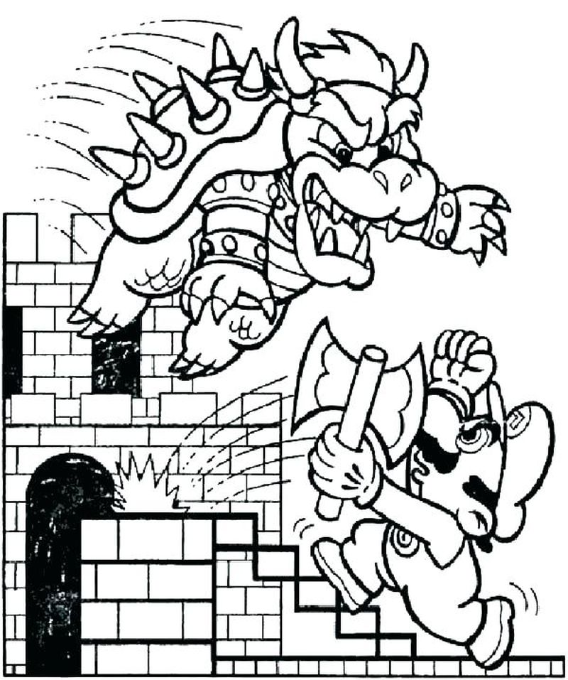 super mario brothers coloring pages printable