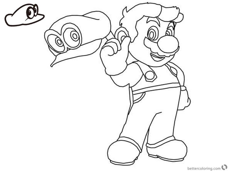 super mario coloring pages pdfPrintable
