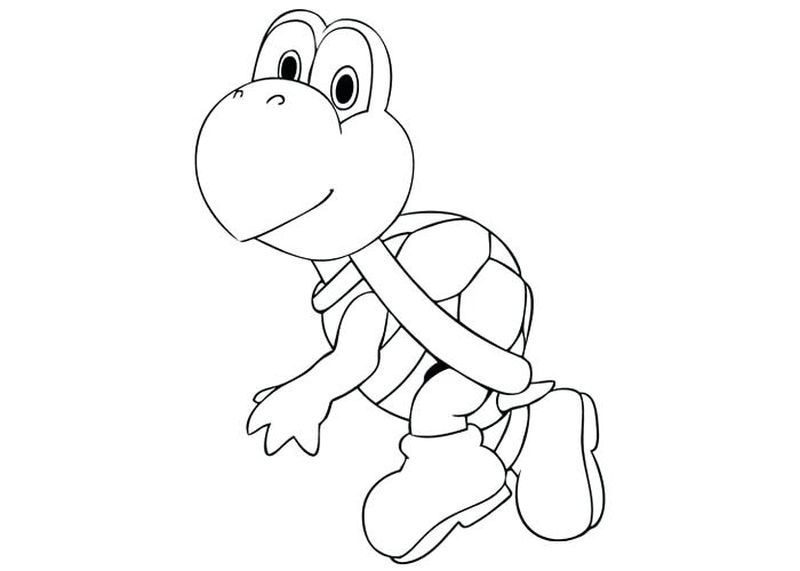 super mario coloring pages toadPrintable