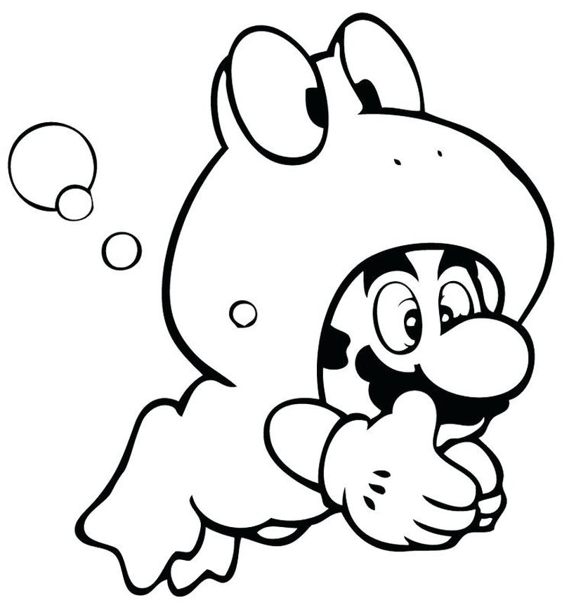 super mario galaxy coloring pages to printPrintable