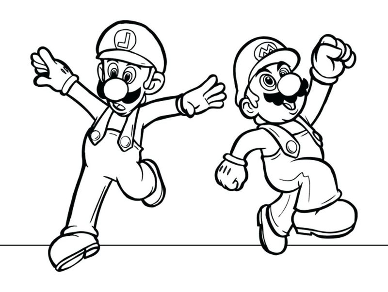 super paper mario coloring pages to printPrintable
