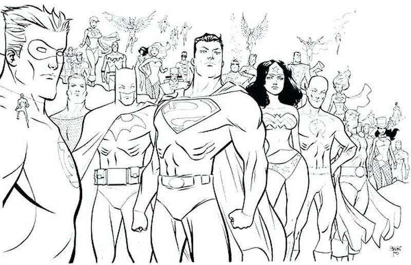 superhero coloring pages for free