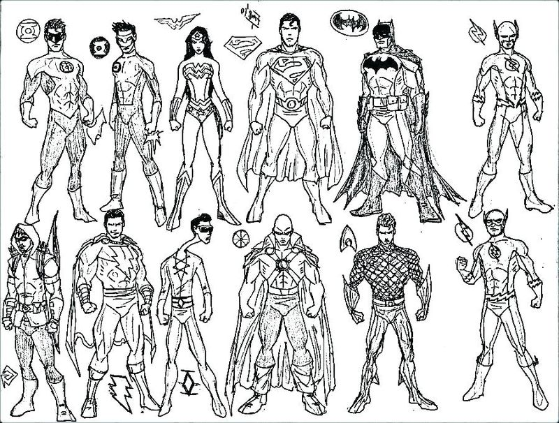 superhero coloring pages to print free