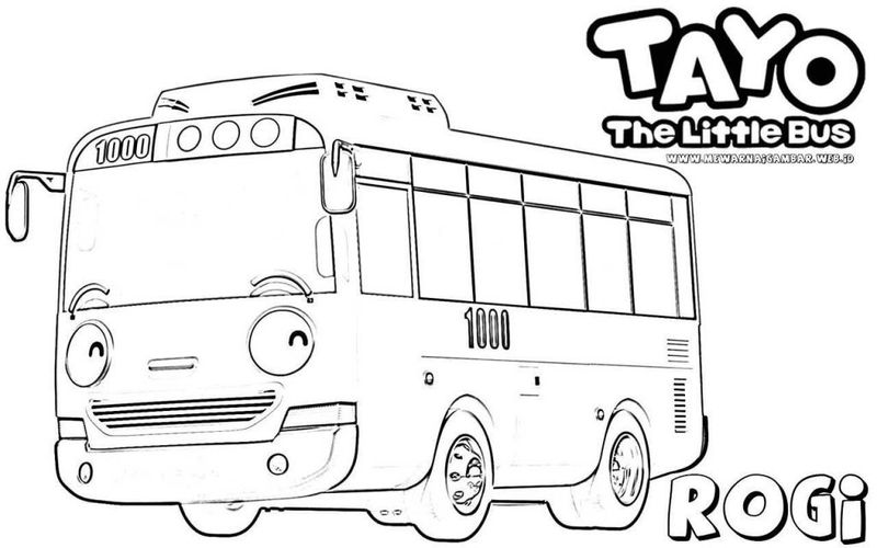 tayo bus coloring page to print