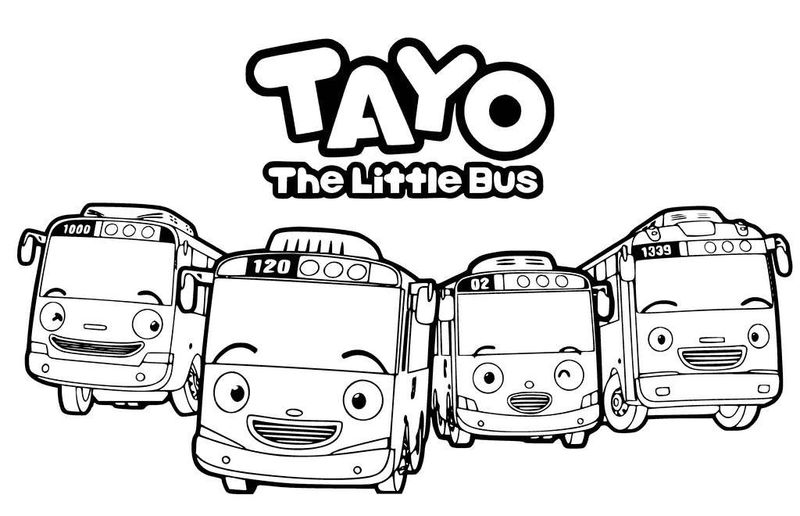 tayo coloring pages print
