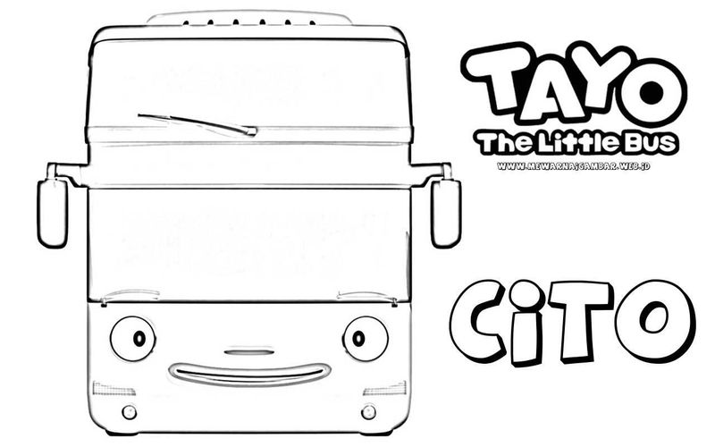 tayo little bus coloring pages print