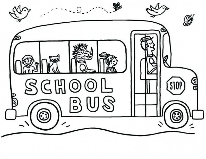 tayo the bus coloring page print