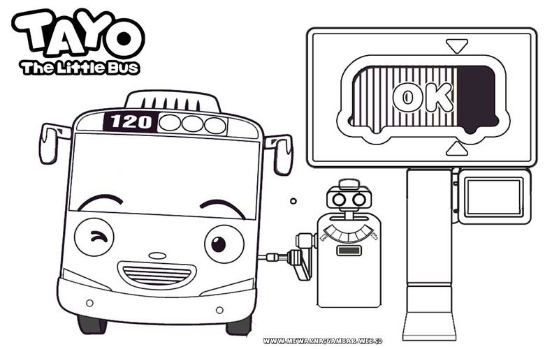 tayo the little bus coloring pages print