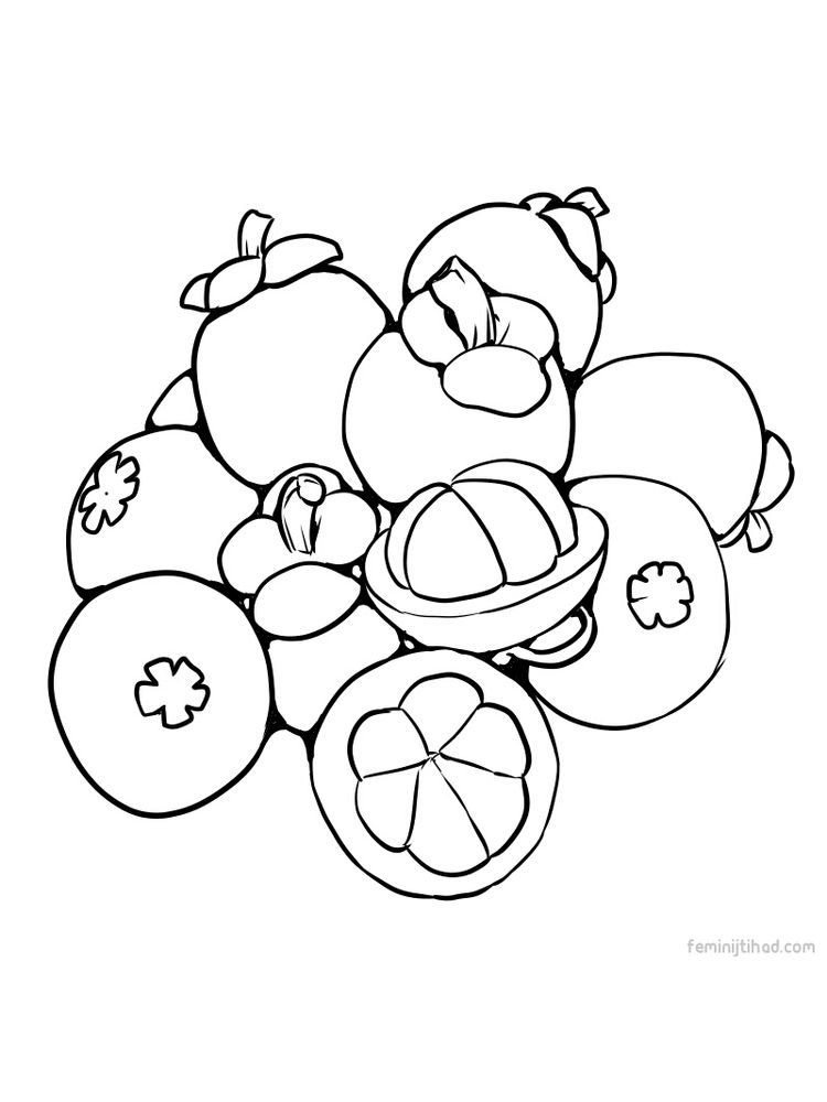 to print mangosteen coloring pages