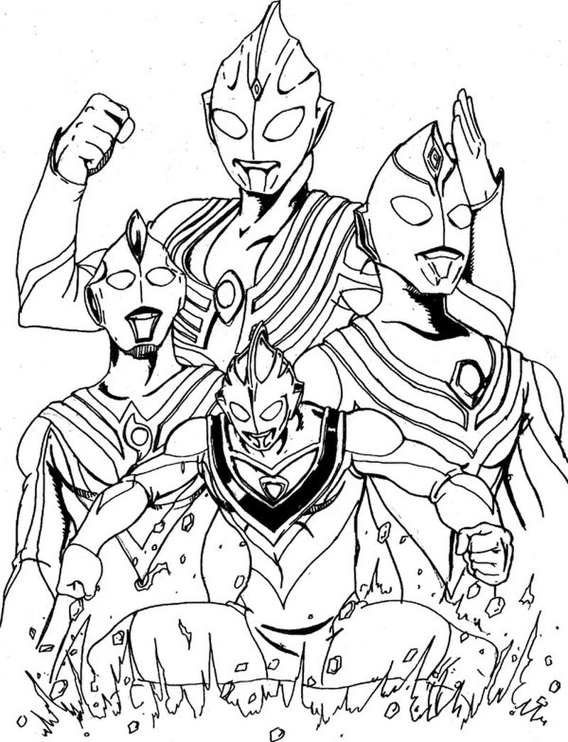 ultraman ginga colouring pages