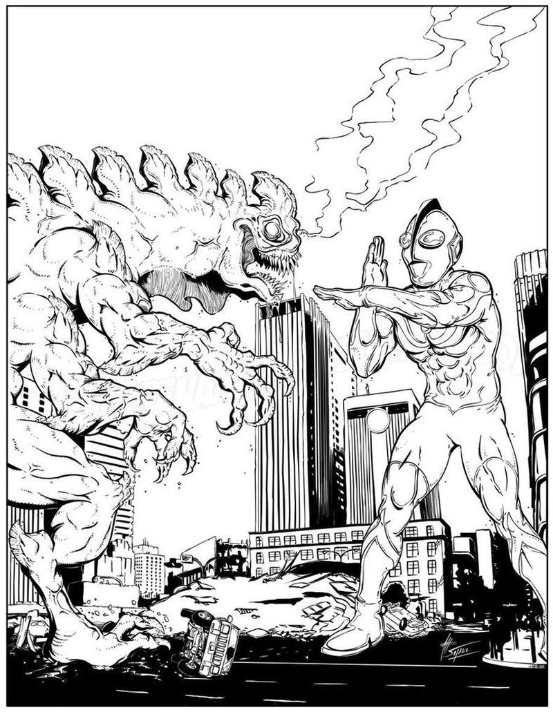 ultraman mebius colouring pages