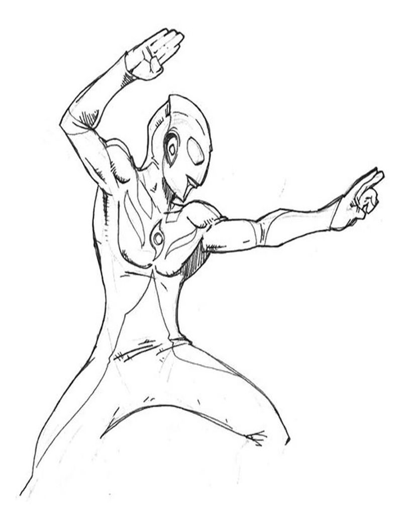 ultraman orb coloring pages print