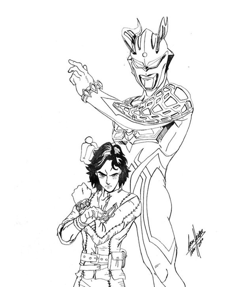 ultraman tiga colouring pages