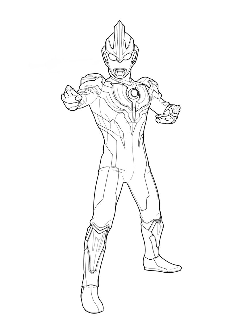 ultraman victory coloring pages print