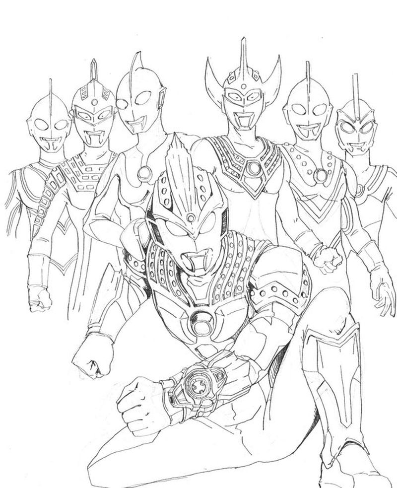 ultraman x coloring pages print