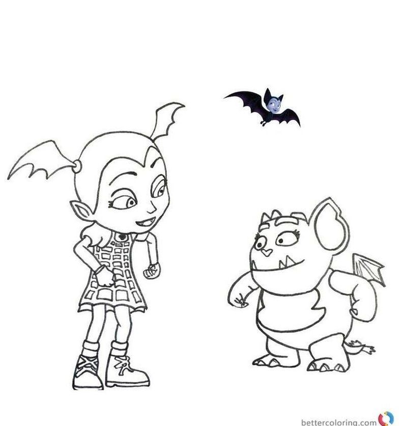 vampirina and wolfie coloring pages free printable