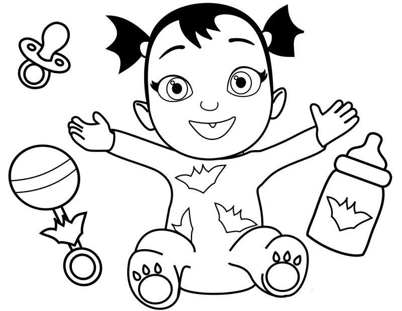 vampirina with baby coloring pages Printable