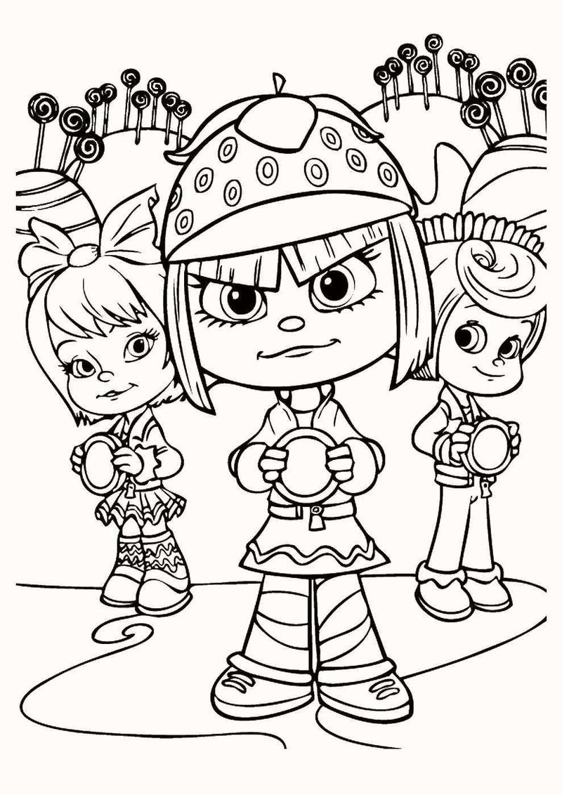 vanellope wreck it ralph coloring page
