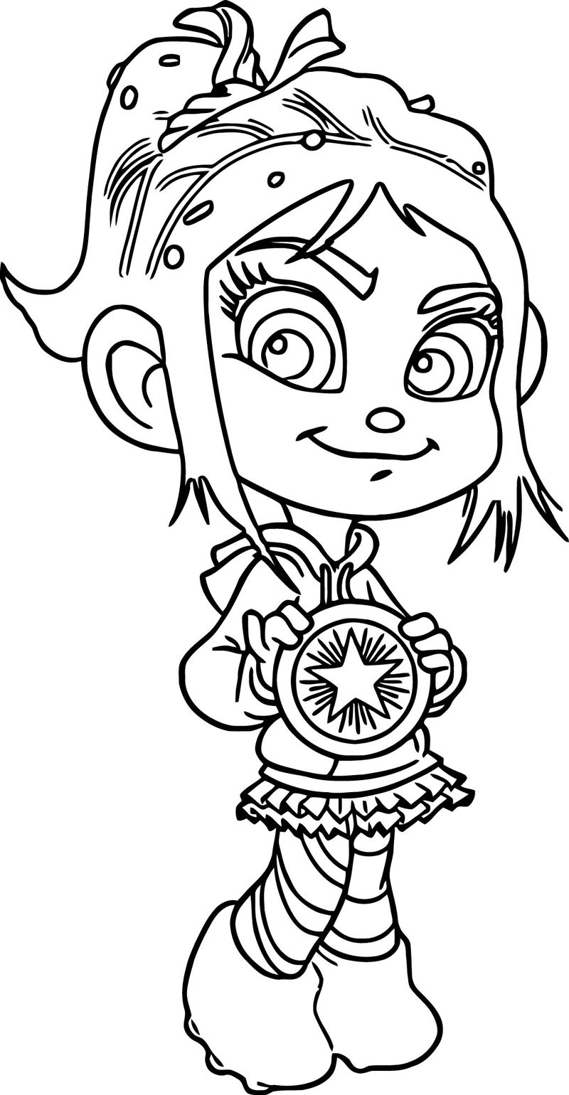 vanellope wreck it ralph coloring pages