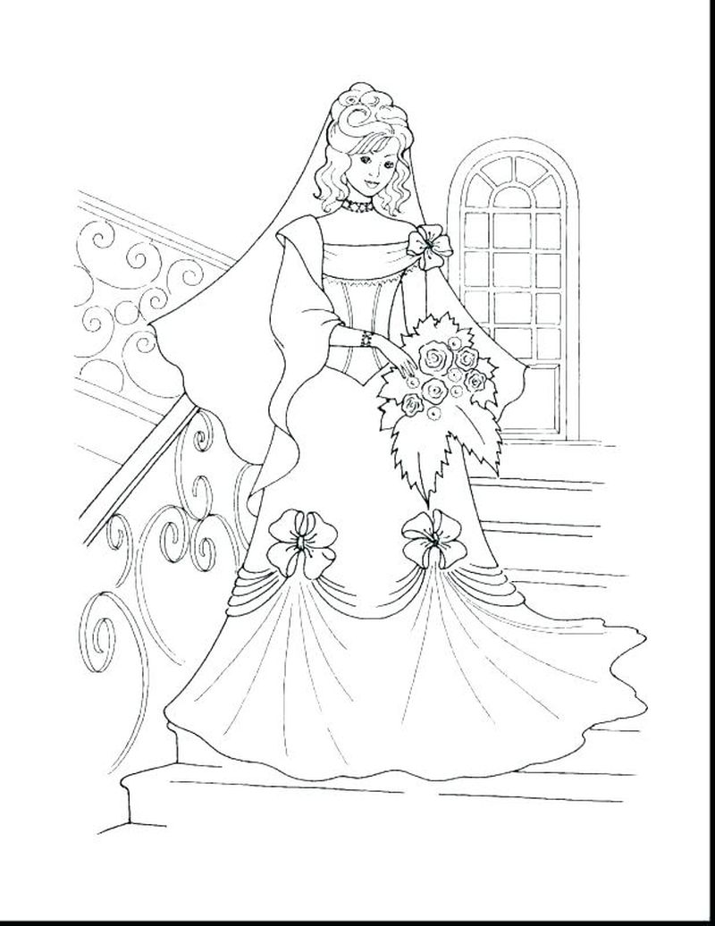 wedding coloring pages bouquet Printable
